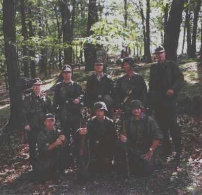 Members of the reenacting unit at an event at Camp Smith, NY.